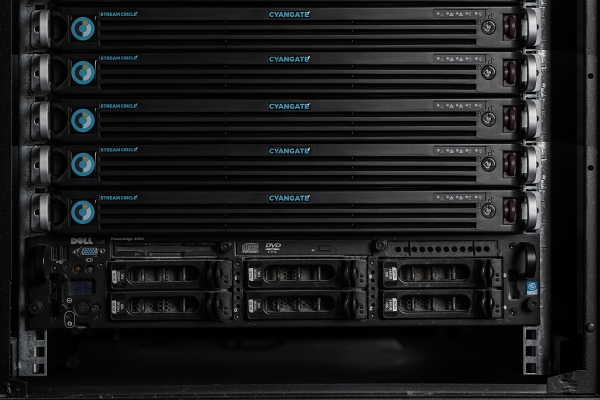 Cyangate servers in rack